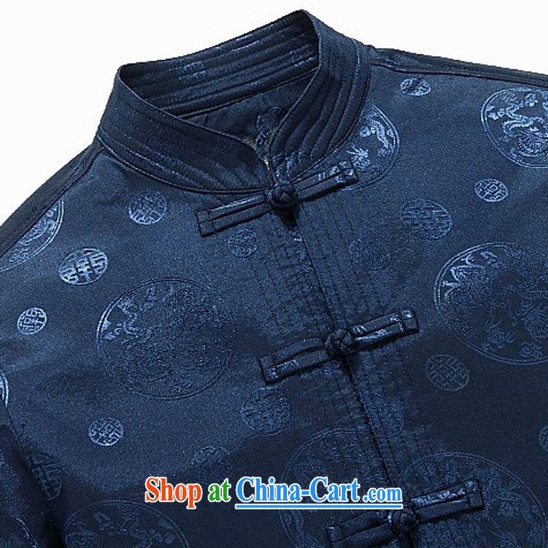 The chestnut Mouse middle-aged and older men's Chinese father with long-sleeved jacket China wind men's spring loaded new older persons T-shirt red XXXL, the chestnut mouse (JINLISHU), shopping on the Internet