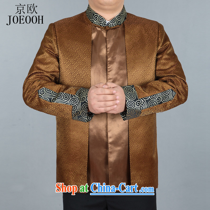 The Beijing China wind spring men detained the Chinese Tang replace older Tang jackets and Ho gold XXXL