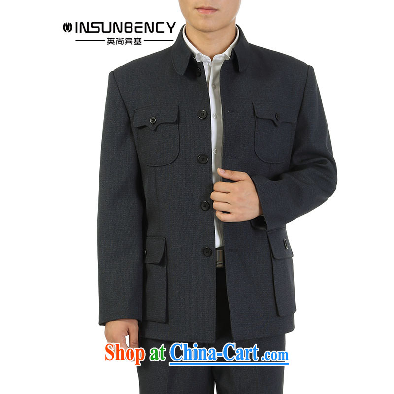 The British still Spencer 2015 spring new, older men smock Kit older persons Sun Yat-sen suit jacket Dad loaded gray 80