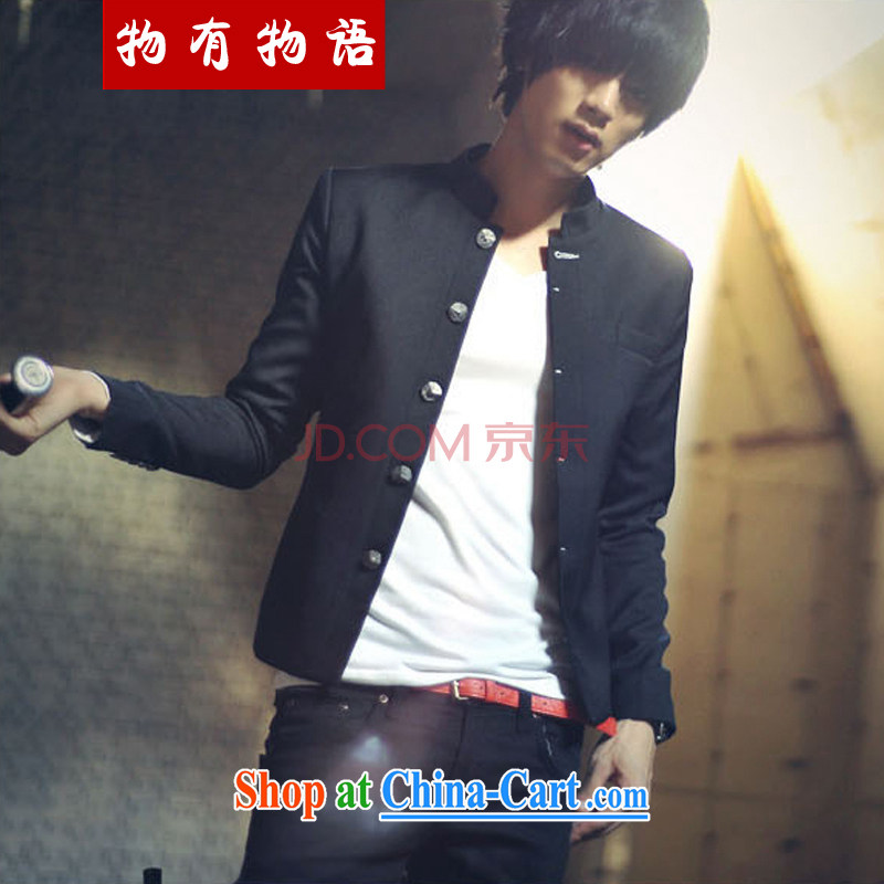A Chinese Generalissimo male Korean Sun Yat-sen suit blood College clothing China wind male black S