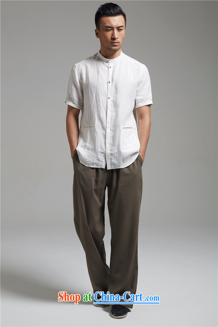 De-tong the dust the Chinese short-sleeve Chinese round-collar casual men's shirts cool breathable China wind 2015 summer the green XXXL pictures, price, brand platters! Elections are good character, the national distribution, so why buy now enjoy more preferential! Health