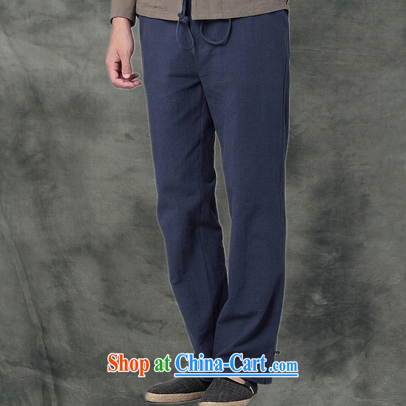 Hee-snapshot Kowloon Yau Ma Tei Cotton Men's casual pants Chinese, sporting with Kung Fu pants and casual loose Tang men's white XL, Hee-snapshot lung (XZAOLONG), online shopping