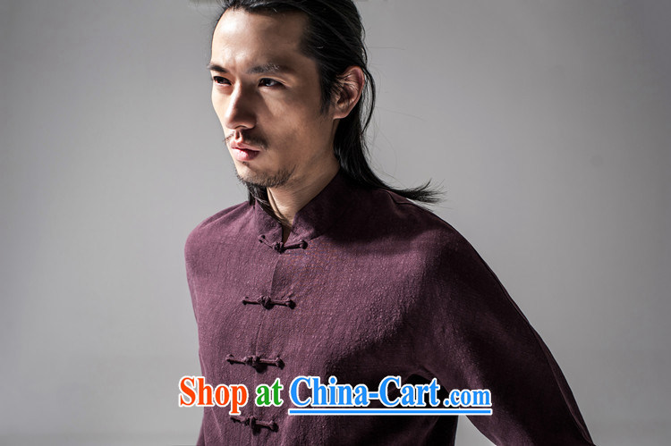 Hee-snapshot Dragon 2015 new Chinese Han-Chinese style Chinese men's jacket Tai Chi uniforms T-shirt Chinese, for men's dark red XL pictures, price, brand platters! Elections are good character, the national distribution, so why buy now enjoy more preferential! Health