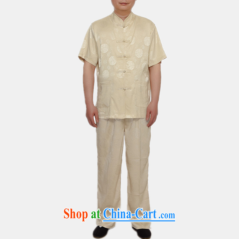 Of the more than 2015 Spring, Summer, genuine male Chinese men and a short-sleeved, older leisure men's short-sleeved white XXL