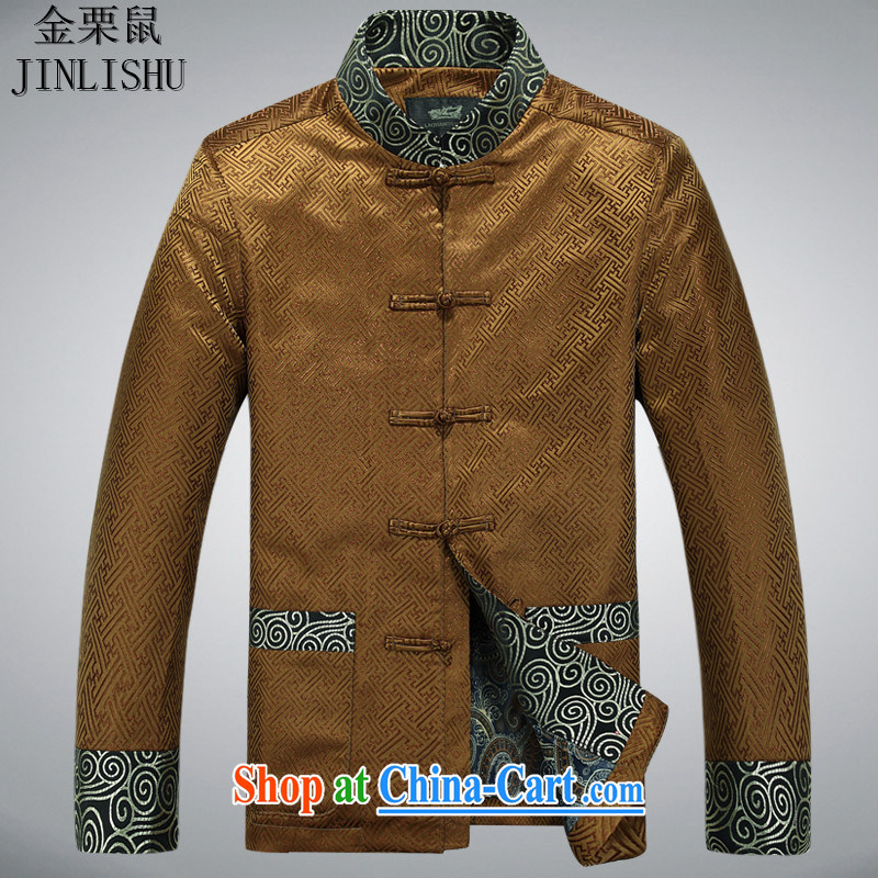 golden poppy mouse Chinese male China wind spring jackets Ethnic Wind new smock-buckle Tang loaded gold XXXL