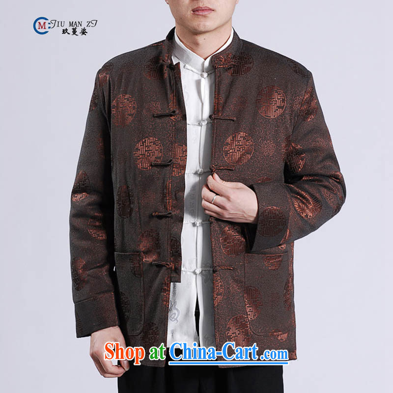 Ko Yo vines into colorful spring and autumn 2015 new middle-aged father Tang with stylish retro, for the charge-back relaxed and modern Chinese countrysides large code M M 0047 0047 - A 3 XL/cotton