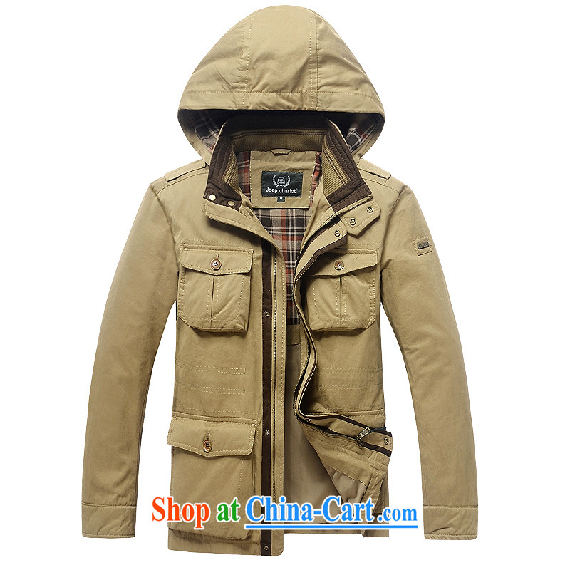 Pure Cotton washed cap jacket men's multi-pocket can be off the cap-yi 8528 card its color XXXL