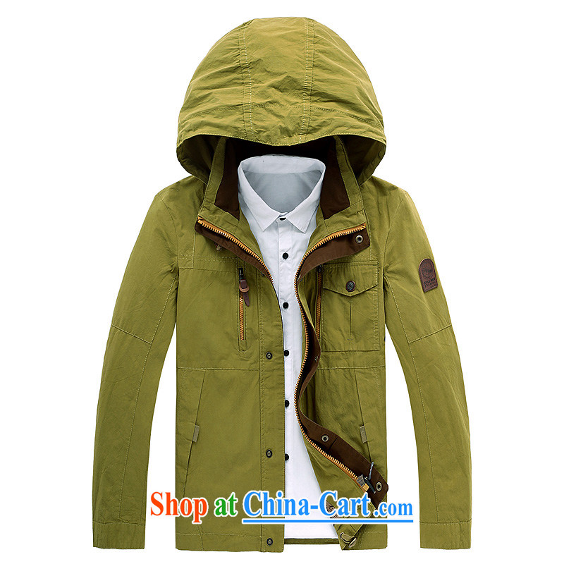 Casual clothing and cotton washed cap jacket men and 581 green 4 XL