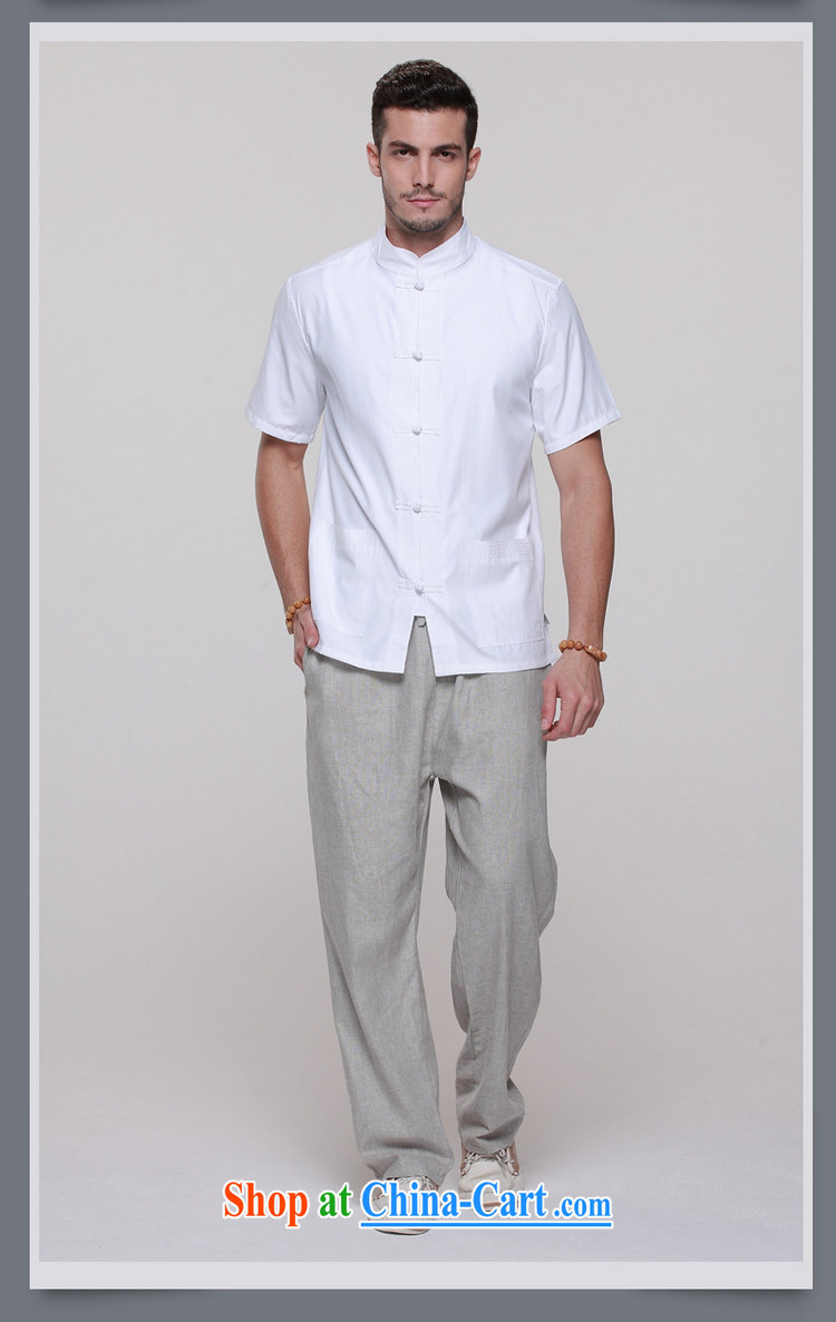 cool ocean 2015 New Men's Chinese short-sleeved T-shirt summer Chinese shirt, older men and national costumes China wind-tie retro shirts, for China wind white 43/185 pictures, price, brand platters! Elections are good character, the national distribution, so why buy now enjoy more preferential! Health