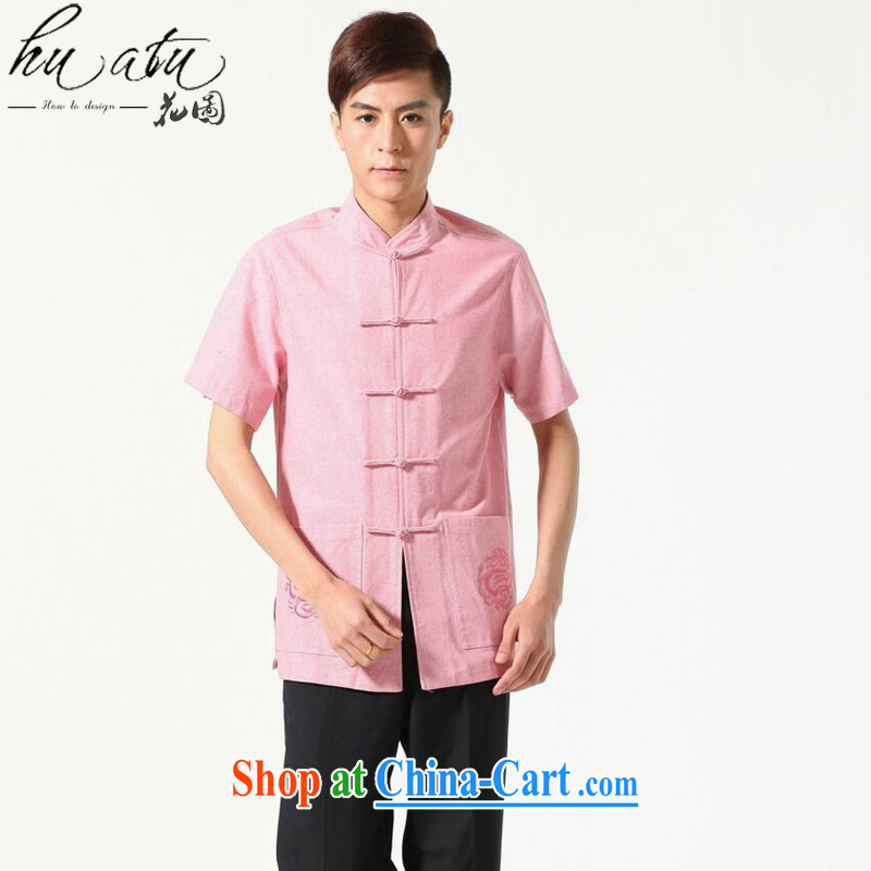 Take the original male Chinese summer new Chinese clothing, cotton for the comfortable and relaxing, with short T-shirt picture color 3XL