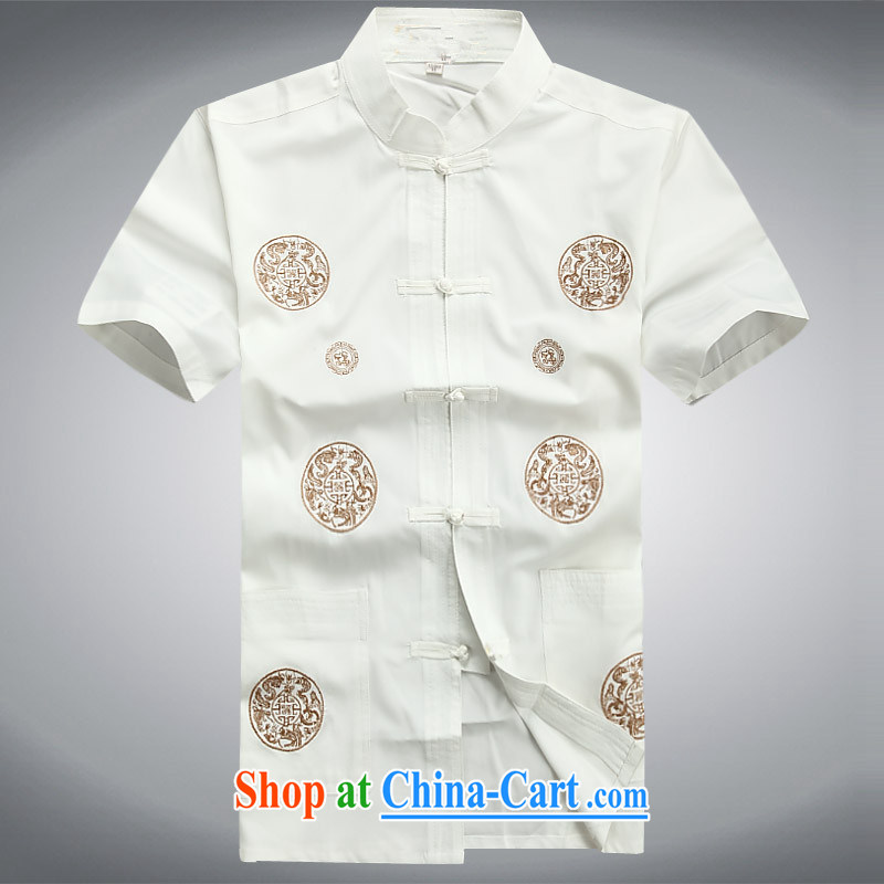 The people more than the 2015 summer new men, older persons with short set short-sleeve short, T-shirt-tie father replace white Kit 190