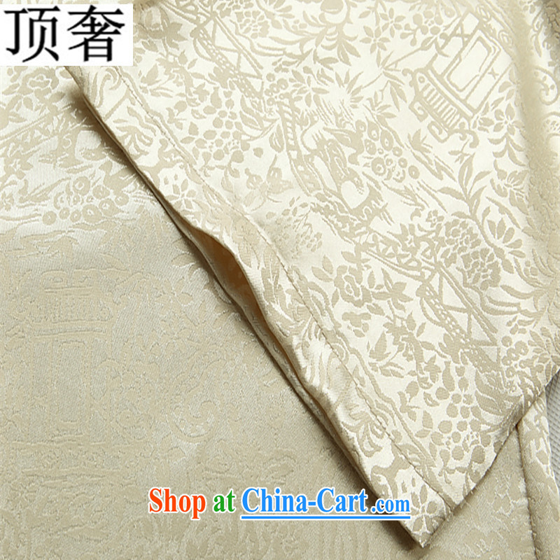 Top Luxury spring and summer thin men Chinese new male, short-sleeved sauna silk men's T-shirt Dad Grandpa installed China wind national the river during the Qingming Festival elegant M S/165, and the top luxury, shopping on the Internet