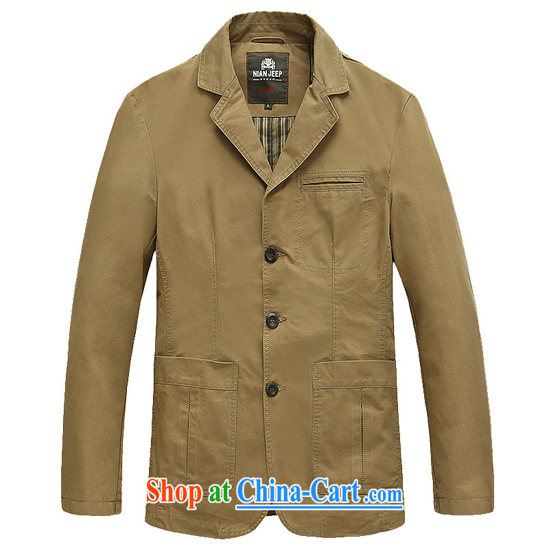 Jeep shield spring pure cotton washable suit smock Solid Color leisure jacket men's 9996 card its color XXXL