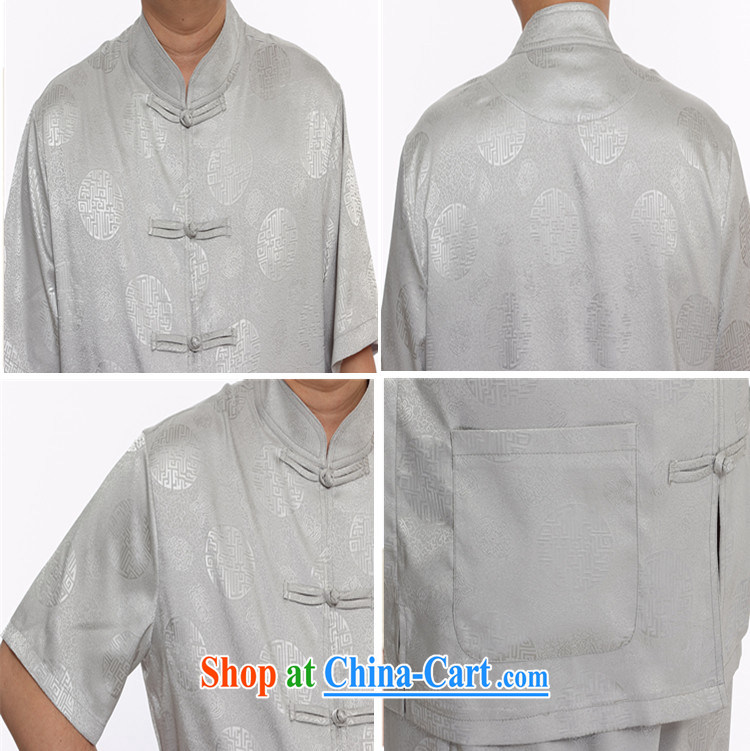 Top Luxury summer new Chinese men's short sleeve installed in the older persons, served Chinese style men's short-sleeve kit 2015 thin China wind kit M yellow Kit 4 XL/185 pictures, price, brand platters! Elections are good character, the national distribution, so why buy now enjoy more preferential! Health