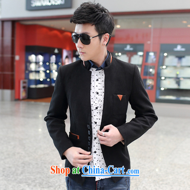 2015 male and leisure, for Korean small suits X 10 black XXXL