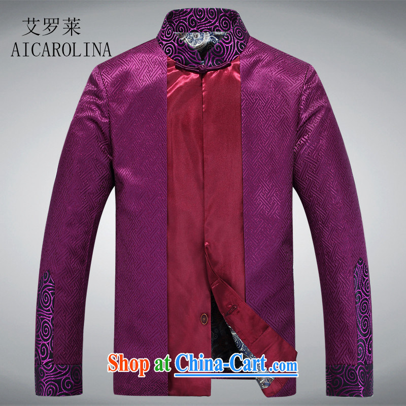 The Luo, new spring, new Chinese, for Tang jackets father grandfather jackets?purple XXXL