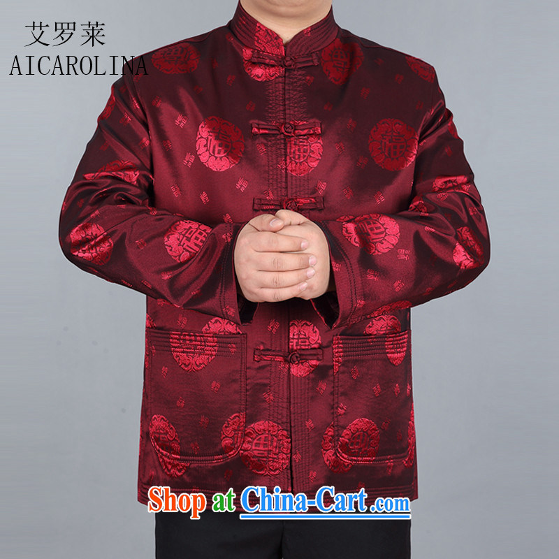 The spring, the male Tang jackets long-sleeved T-shirt Chinese, for national wind holiday gift festive red XXXL