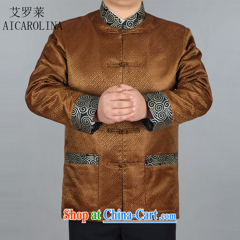 The Spring and Autumn Period, men with older people in men's Chinese men jacket gold XXXL