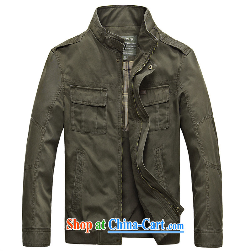 Jeep shields, for men's jackets more pocket smock jacket cotton washable 3393 army green XXXL