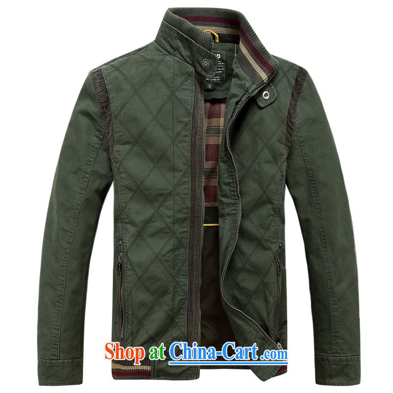 Jeep shield spring men's jackets line grid jacket Stitched Cotton washable 6803 army green XXXL