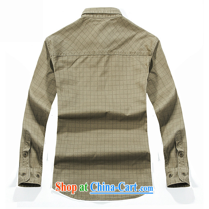 Jeep shield spring 2015 leisure smock men's T-shirt pure cotton comfort washable tartan shirt 2021 card its color XXXL, jeep shield (NIAN JEEP), online shopping