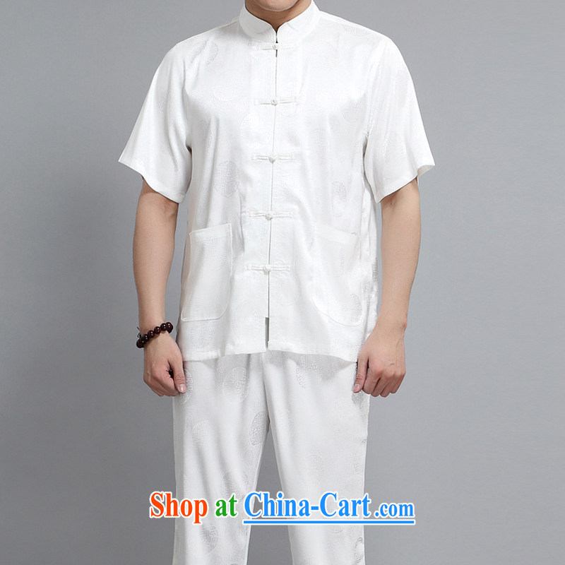 Adam's old Summer 15 new hi in older men short-sleeves with short T-shirt men's national costumes cream 165 code/package