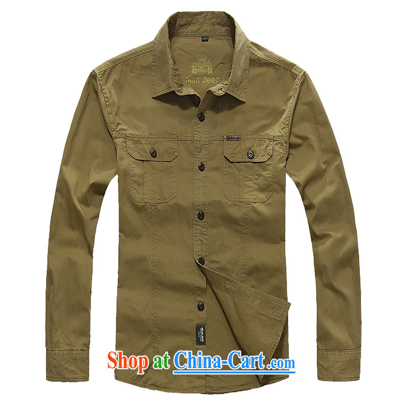Jeep shield spring new cotton washable smock cotton long-sleeved T-shirt and 9966 card the color 4 XL