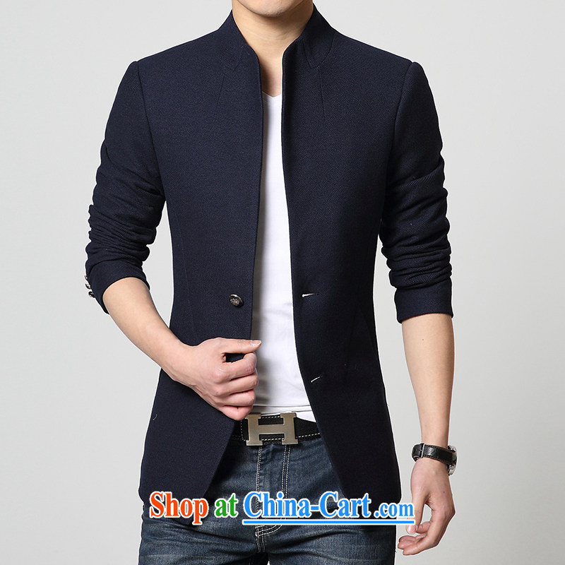 Old Mr Rafael Hui Carter 2015 new spring loaded male Korean beauty, for single-buckle jacket stylish men and smock jacket blue XXXL