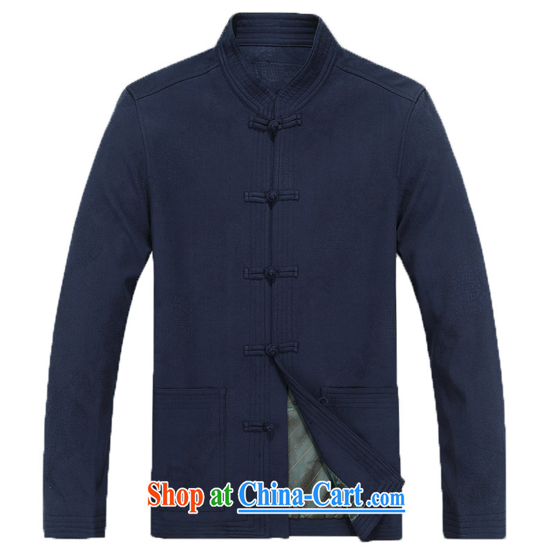 New Spring and Autumn and men tang on long-sleeved T-shirt, elderly Chinese men and the charge-back older persons pure cotton Tang jackets men's F 8801, the deep-red XXXL/190, and mobile phone line (gesaxing), on-line shopping
