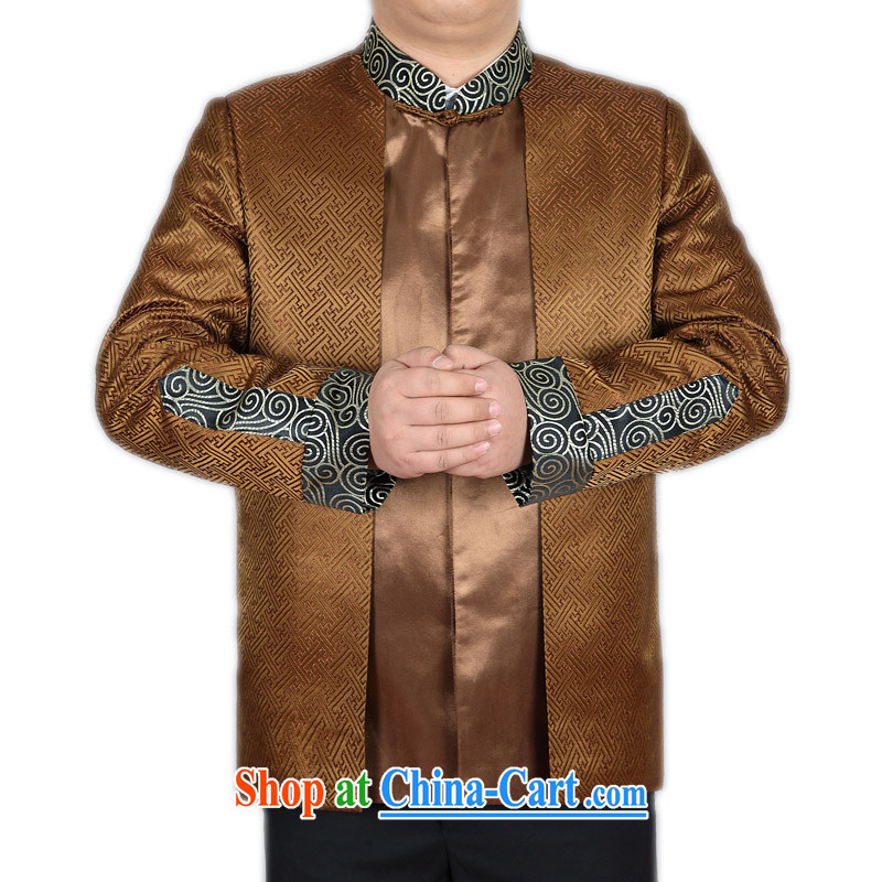 New Middle-aged and older Chinese men's jacket T-shirt spring, men's long-sleeved APEC Chinese ethnic Han-service performance service and Ho Kim XXXL_190