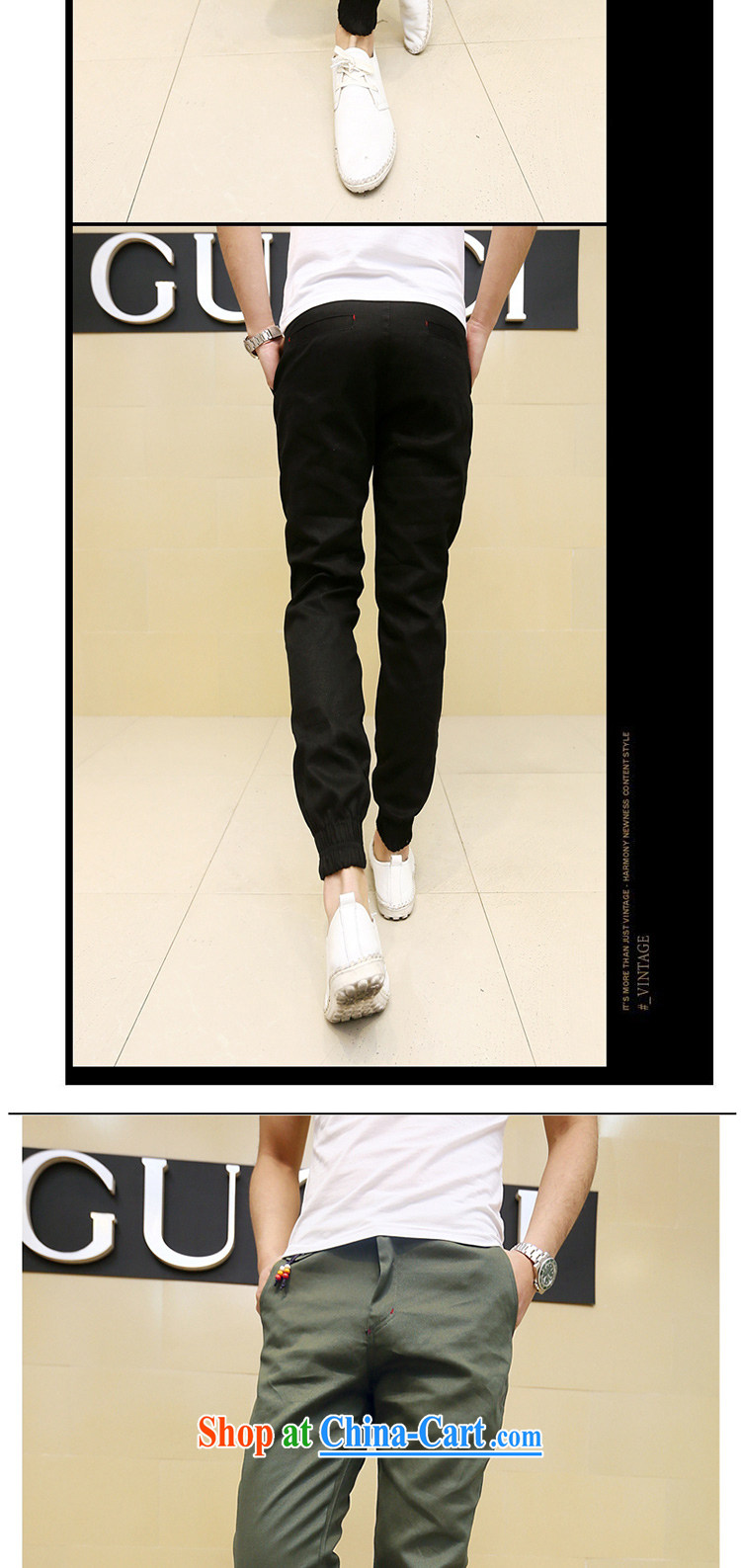 Spring 2015 men's trend-and-Trouser press men and beauty long pants Korean Harlan pants army green XXL pictures, price, brand platters! Elections are good character, the national distribution, so why buy now enjoy more preferential! Health