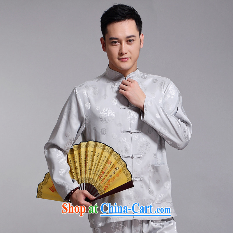 Tang mounted 2015 New Men Tang is included in the kit older sauna silk morning Tai 练练功 serving China wind long-sleeved Chinese Red Cross 1516 190, JACKE EVIS (JACK EVIS), online shopping