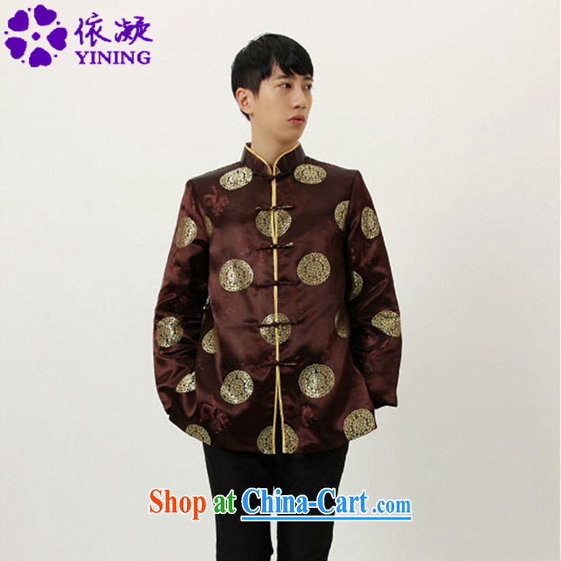 According to fuser spring loaded new male, for classical-tie father loaded Tang jackets LGD_M 4002 _coffee 3 XL