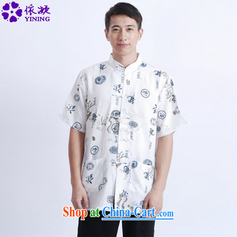 In accordance with fuser summer new retro ethnic wind load short short-sleeved, who has been hard-pressed suits my father with a short-sleeved Tang fitted T-shirt LGD_M 0005 _3 XL