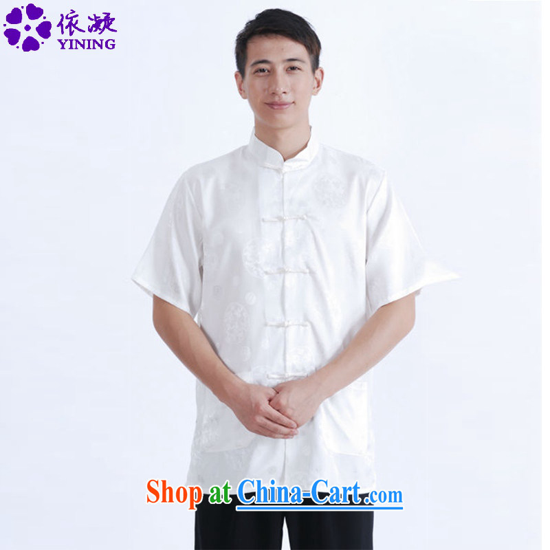 According to fuser summer new stylish ethnic wind Tang with short-sleeves and collar classic Tray Tie father with Tang is a short-sleeved T-shirt LGD/M 0015 #3 XL