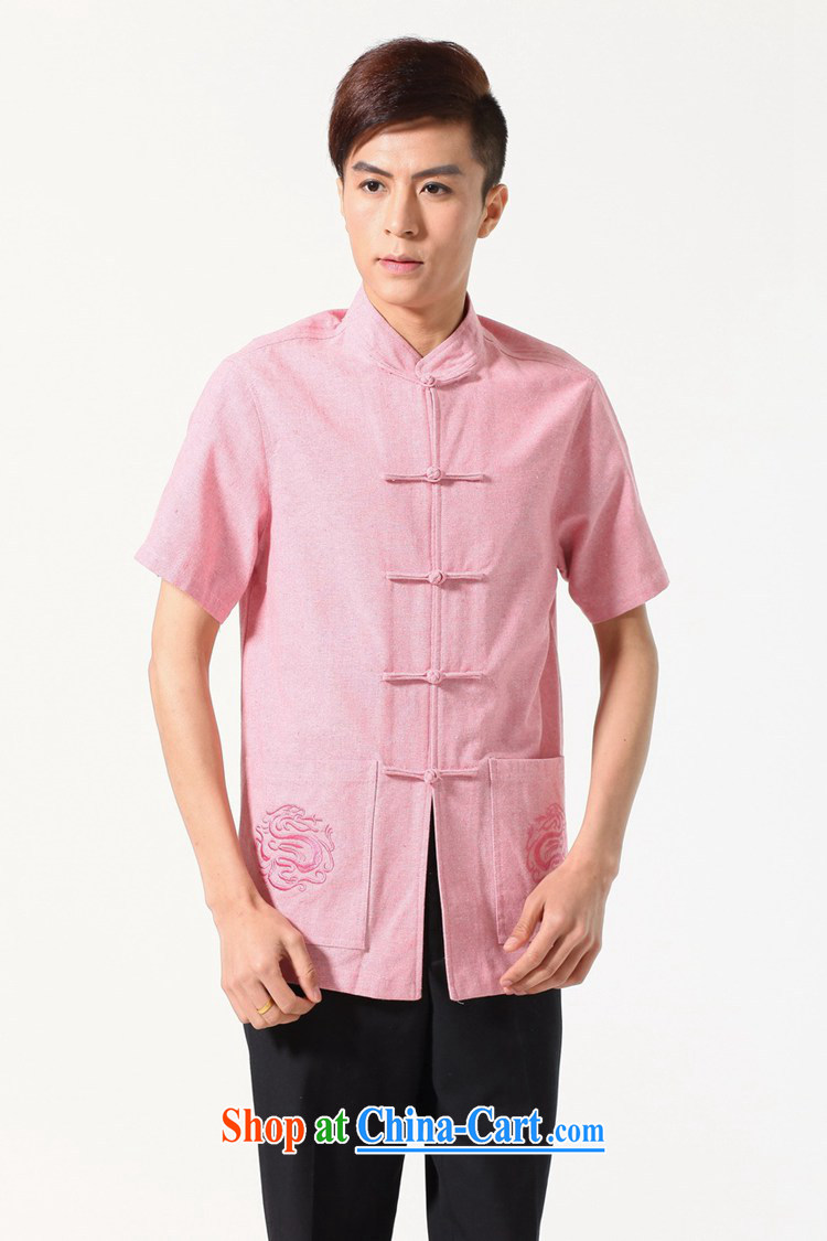 In accordance with fuser summer new chinese daily Chinese shirt style classical-tie father replace Tang with short-sleeve T-shirt LGD/M 0053 #picture color 3XL pictures, price, brand platters! Elections are good character, the national distribution, so why buy now enjoy more preferential! Health