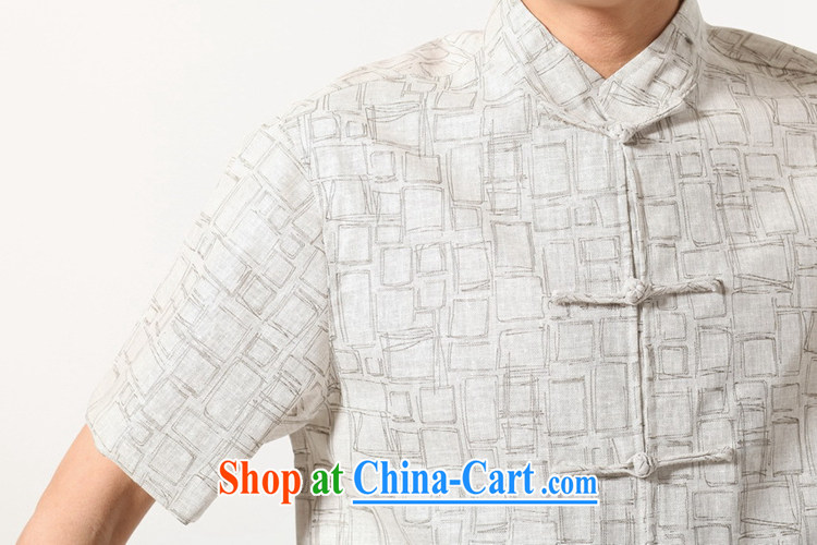 In accordance with fuser summer new male Chinese Ethnic Wind improved Chinese qipao classical-tie father with Chinese short-sleeved T-shirt LGD/M 0054 #beige 3XL pictures, price, brand platters! Elections are good character, the national distribution, so why buy now enjoy more preferential! Health