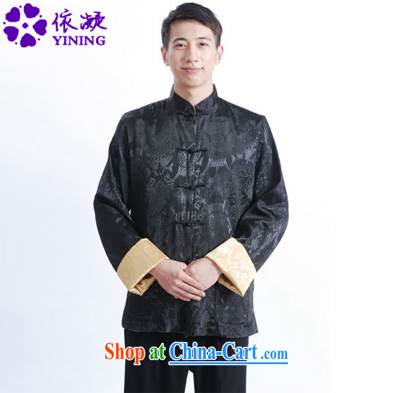 According to fuser New Men's antique ethnic-Chinese qipao, leading to a two-sided through father replacing Tang jackets LGD_M _1040 figure 3 XL