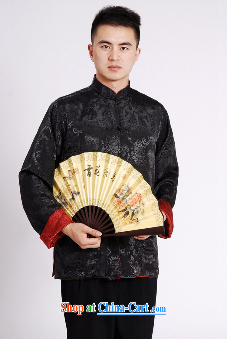 According to fuser spring new male daily improved Chinese qipao, leading to a two-sided through his father loaded Tang with long-sleeved T-shirt LGD/M 1045 #3 XL pictures, price, brand platters! Elections are good character, the national distribution, so why buy now enjoy more preferential! Health