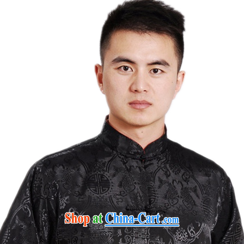 According to fuser spring new male daily improved Chinese qipao, leading to a two-sided through father replacing Tang is long-sleeved T-shirt LGD/M 1045 #3 XL, fuser, and shopping on the Internet