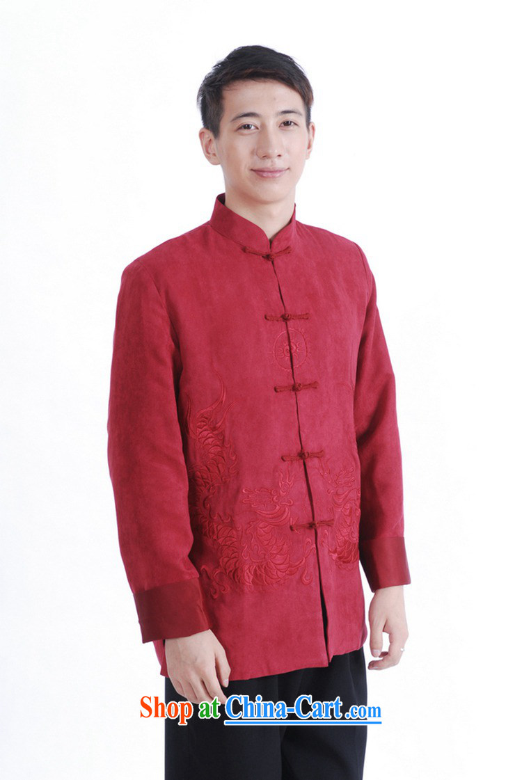 According to fuser spring new male daily Chinese improved Chinese qipao, for double-lung embroidered Dad replace Tang jackets LGD/M 1147 #The Red 3 XL pictures, price, brand platters! Elections are good character, the national distribution, so why buy now enjoy more preferential! Health
