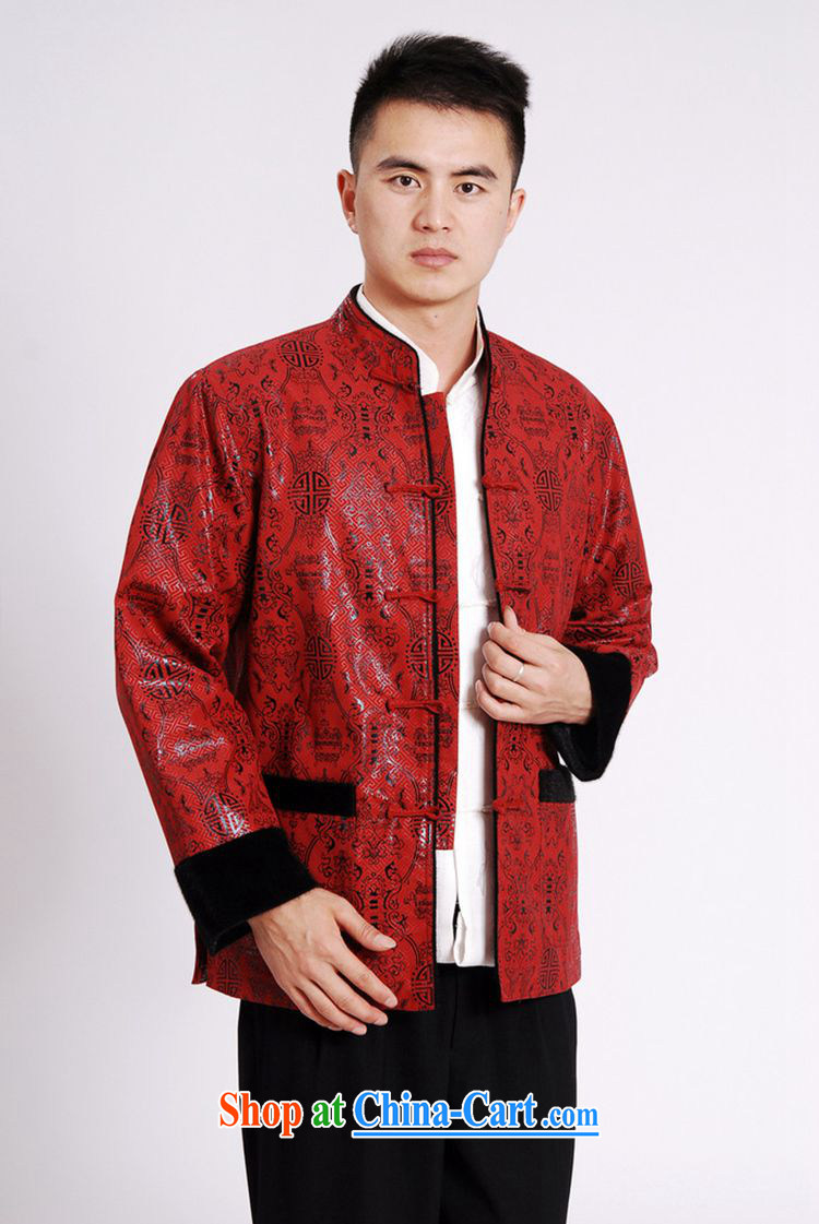According to fuser spring new, older men's daily improved Tang replacing the collar retro-buckle stitching father with long-sleeved Tang replace LGD/M #0040 figure XXXL pictures, price, brand platters! Elections are good character, the national distribution, so why buy now enjoy more preferential! Health