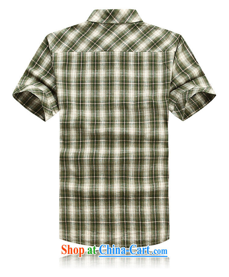 Jeep shield men's shirts cotton frock sewing shirt short-sleeved checkered shirt 6835 green XXXL pictures, price, brand platters! Elections are good character, the national distribution, so why buy now enjoy more preferential! Health
