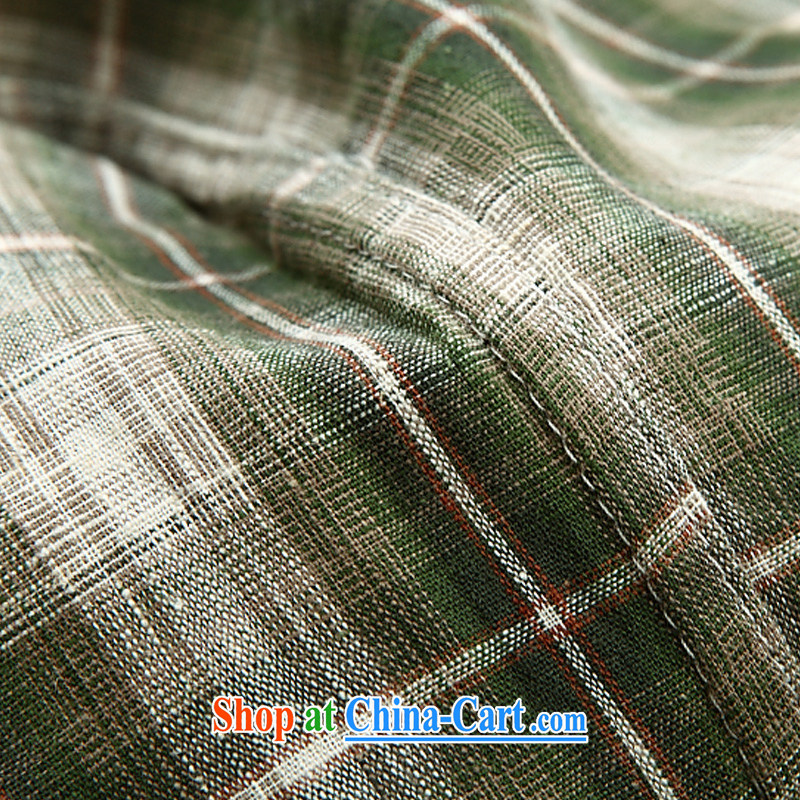 Jeep shield men's shirts cotton frock sewing shirt short-sleeved checkered shirt 6835 green XXXL, Roma shields, and shopping on the Internet