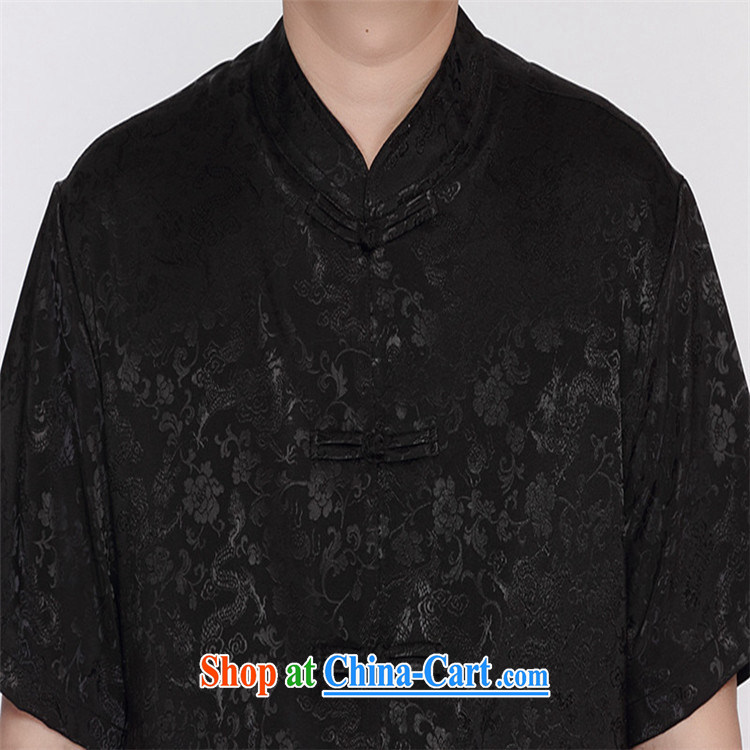 Top luxury Chinese package men and a short-sleeved summer New Men's 2015 relaxed version China wind-buckle black Tang package with the fertilizer and increase the collar T-shirt black Dragons package 185 pictures, price, brand platters! Elections are good character, the national distribution, so why buy now enjoy more preferential! Health