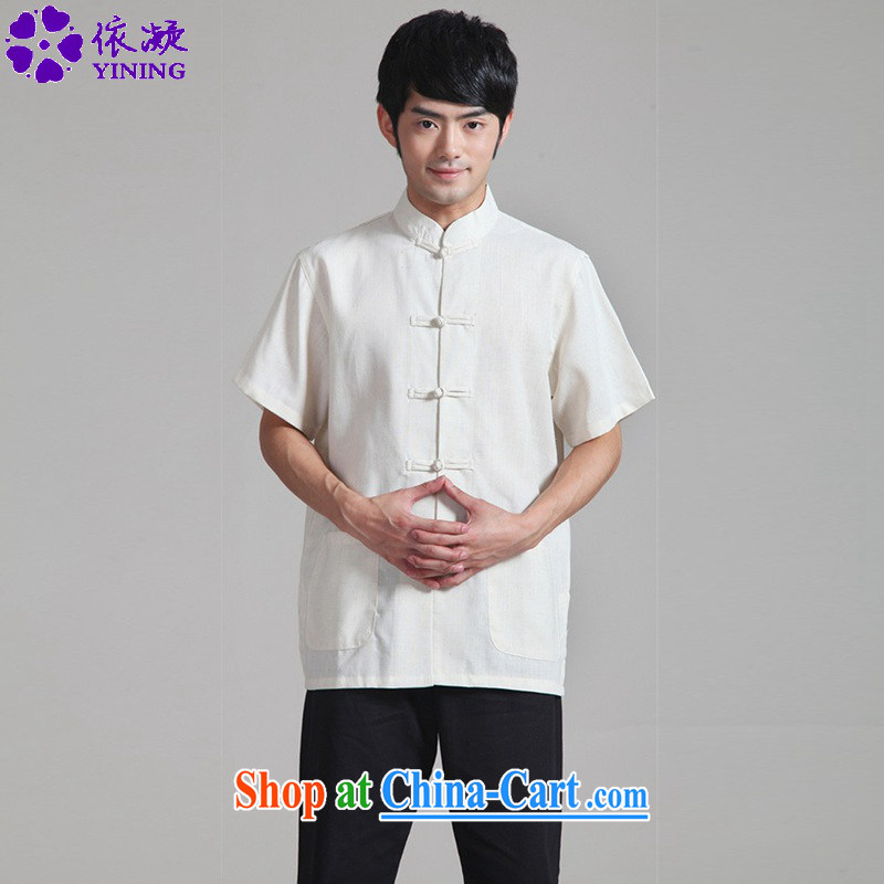 According to fuser summer new ethnic wind load short shirt pure color for classical-tie the Lao Tang with short-sleeved T-shirt WNS_0820 _ 1 _3 XL
