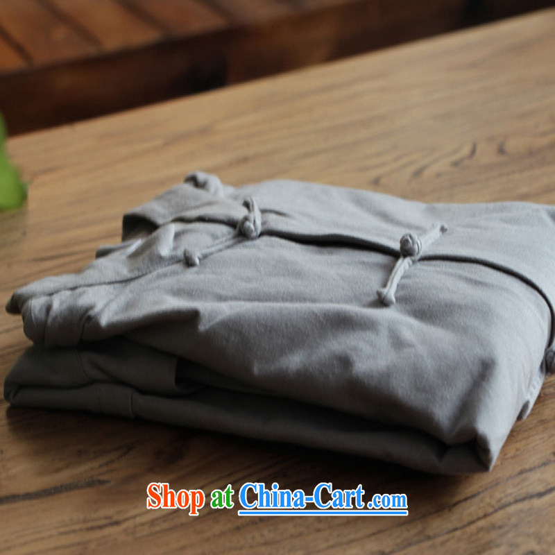 cubufq pure cotton double-decker Chinese Chinese men and replace the snap-china wind Chinese men's long-sleeved jacket spring loaded, served the cynosure serving gray 175/41, cubufq, shopping on the Internet
