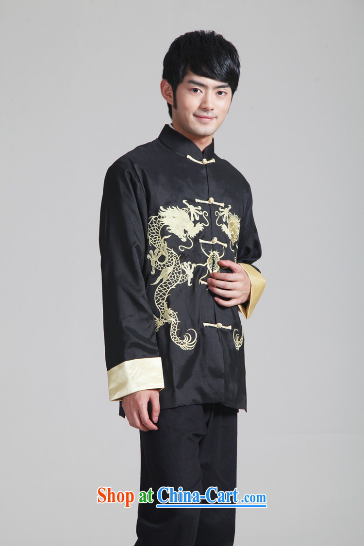 According to fuser New Men's antique Ethnic Wind daily Chinese qipao, who has been hard-pressed double Dragon embroidered Dad replace Tang jackets WNS/2283 # 2 #3 XL pictures, price, brand platters! Elections are good character, the national distribution, so why buy now enjoy more preferential! Health