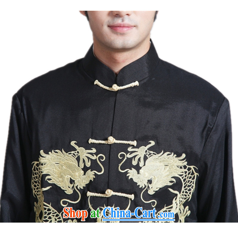 According to fuser new male retro Ethnic Wind daily Chinese qipao, who has been hard-pressed double Dragon embroidered Dad replace Tang jackets WNS/2283 # 2 #3 XL, fuser, and shopping on the Internet