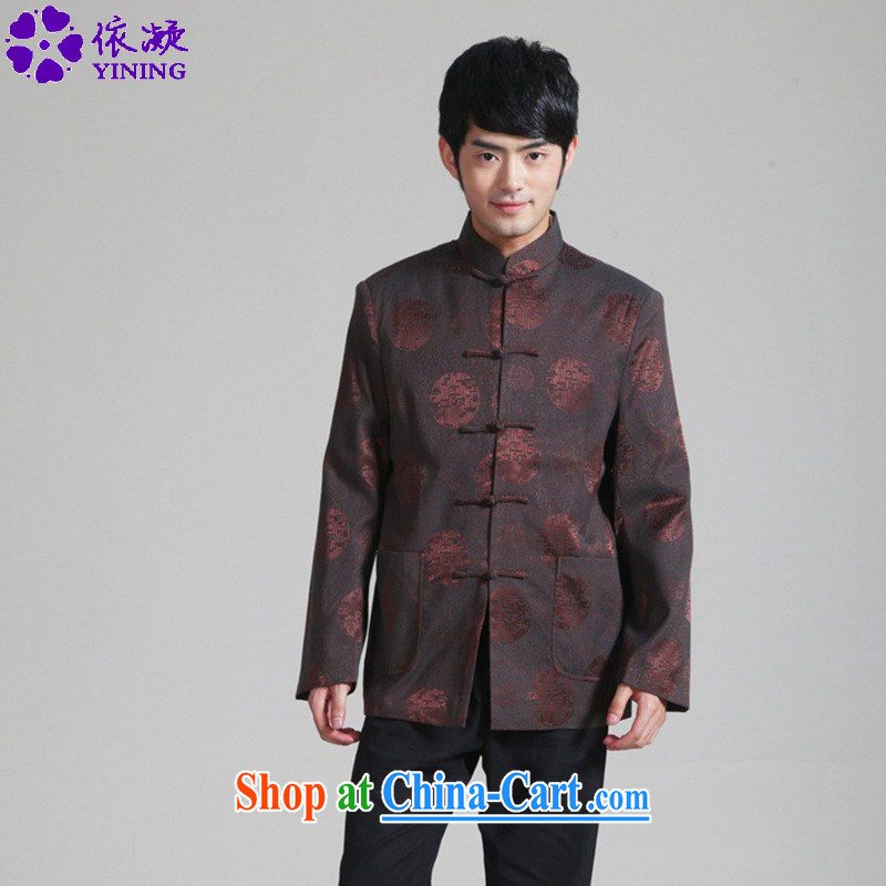 According to fuser spring fashion new Ethnic Wind daily improved Chinese qipao, who has been hard-pressed his father with long-sleeved Chinese T-shirt jacket WNS_2285 _ 1 _3 XL